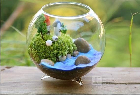 Hot Sale Dia 8 Cm Glass Vase Round Glass Vase Fish Bowl Handmade