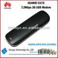 Nueva abierto original de huawei e173 3g usb módem hsdpa 7.2 mbps y 3g dongle usb con ranura para tarjeta sim