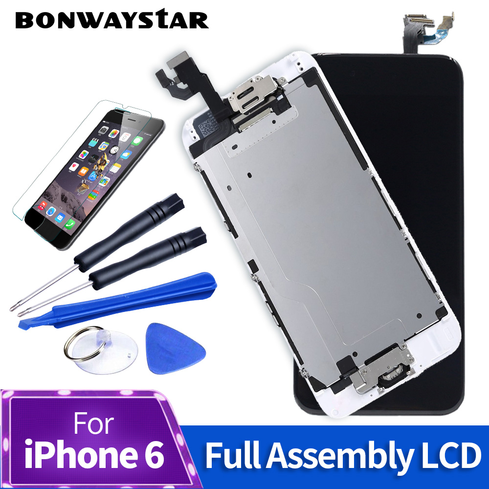 AAA +++Touch Display For iPhone 5s 6 LCD full set Assembly with Camera+sensor Replacement For iPhone 5c 5s 6s Screen with gift image