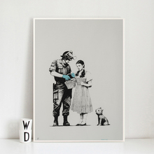 Banksy Stop And Search Canvas Painting Print Living Room Home Decor Modern Wall Art Oil Painting Poster Salon Pictures Artwork billie eilish fan art poster canvas painting print living room home decor modern wall art oil painting salon pictures framework