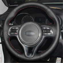 Top Leather Steering Wheel Hand-stitch on Wrap Cover For Kia K5 2016 2017 Sportage 4 KX5 2016 2017