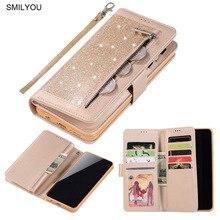 2019 Rits Flip Cover Voor Samsung S10 Plus Case S9 S8 Note 8 9 Pu Leather Glitter Wallet Boek Telefoon gevallen Voor Samsung S7 Rand