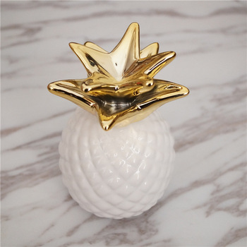 Tirelire ananas or blanc