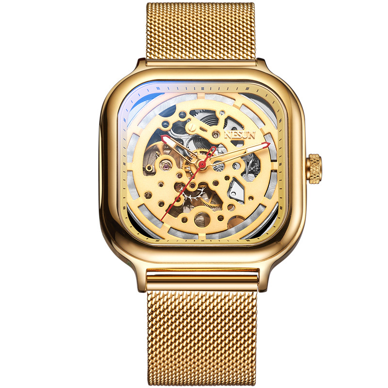 Luxury Gold Mens Automatic Mechanical Watch Sport Skeleton Stainless Male Clock relogio masculino Man Wrist Watches LuminousLuxury Gold Mens Automatic Mechanical Watch Sport Skeleton Stainless Male Clock relogio masculino Man Wrist Watches Luminous