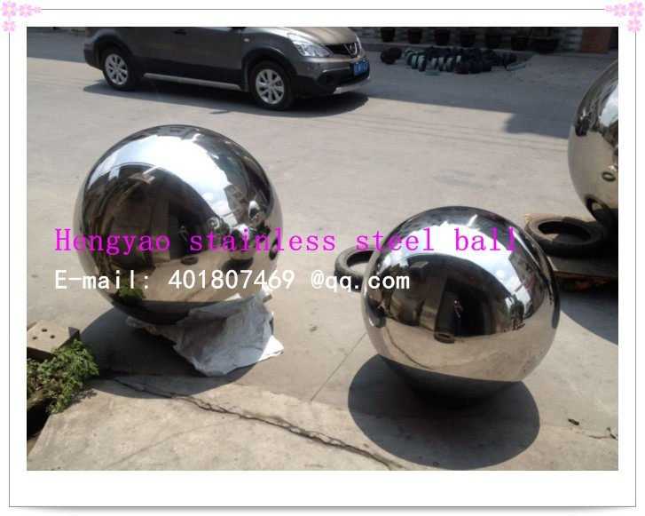 Silver Dia 500mm 50cm 201 stainless steel hollow ball seamless mirror - Home Decor - Photo 2