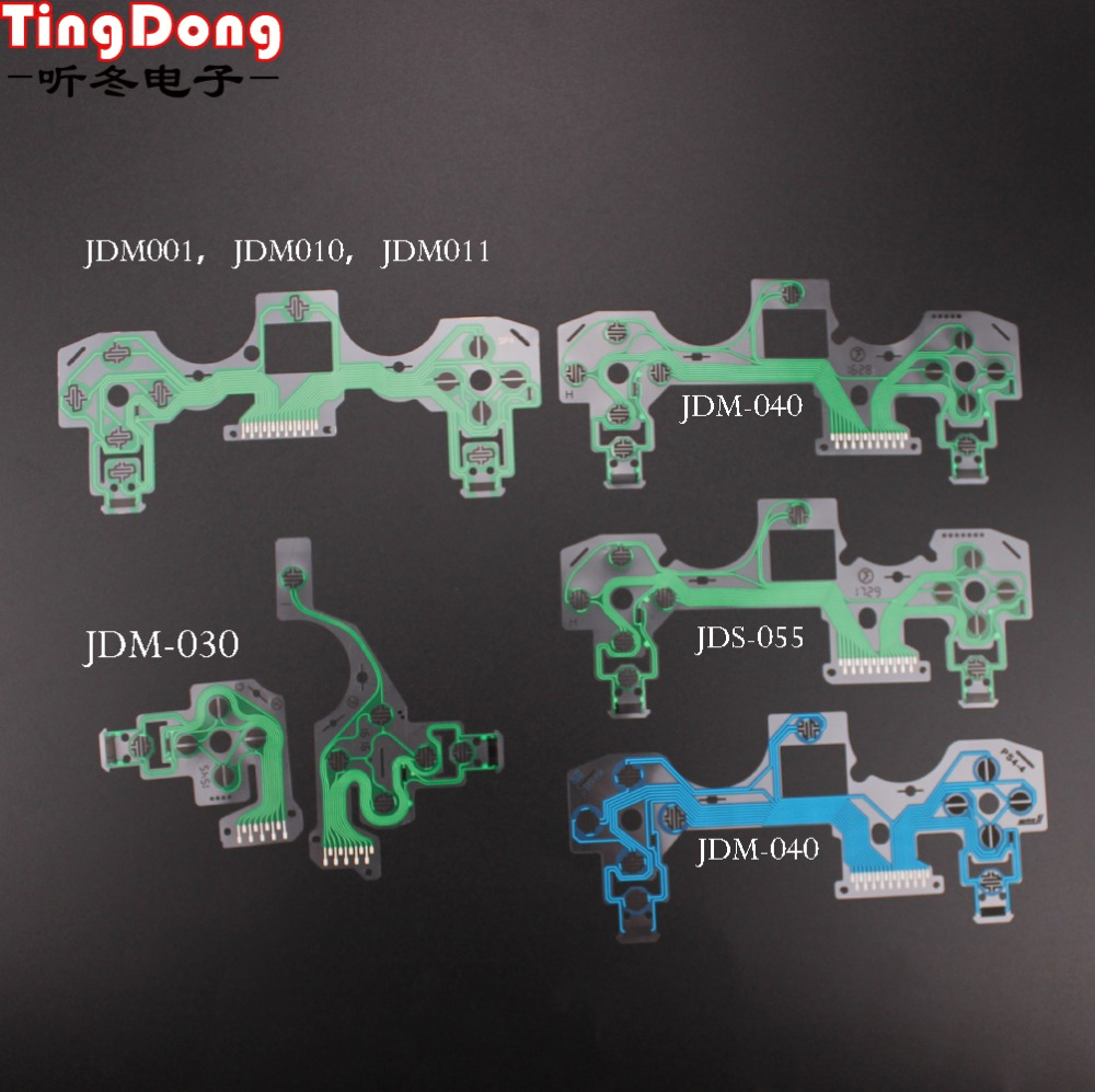 For PlayStation 4 PS4 Pro Slim Controller Conductive Film Keypad Flex Cable For Dualshock 4 Ribbon Circuit Board JDS 050