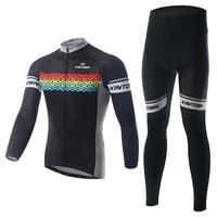 XINTOWN Men Cycling Jersey Set Bike Bicycle Long Sleeves MTB Clothing Shirts Breathable Cycling Jersey Set