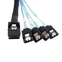 10pcs/lot Cablecc Mini SAS 4i SFF 8087 36P to 4 SATA 7p Internal Hard Disk Drive Cable 10Gbps 1m