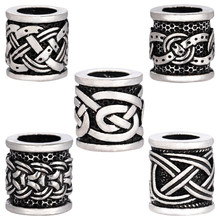 1pc Thor Vikings Antique Silver Beads Hair Beard Beads Charms Findings for Necklace Bracelets Jewelry DIY Bead(China)