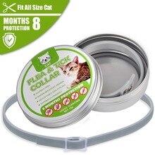 Dewel Pet Dog Collar Anti Flea Ticks Mosquitoes Outdoor Protective Adjustable PET 8 Months Long-term Protection Ship US