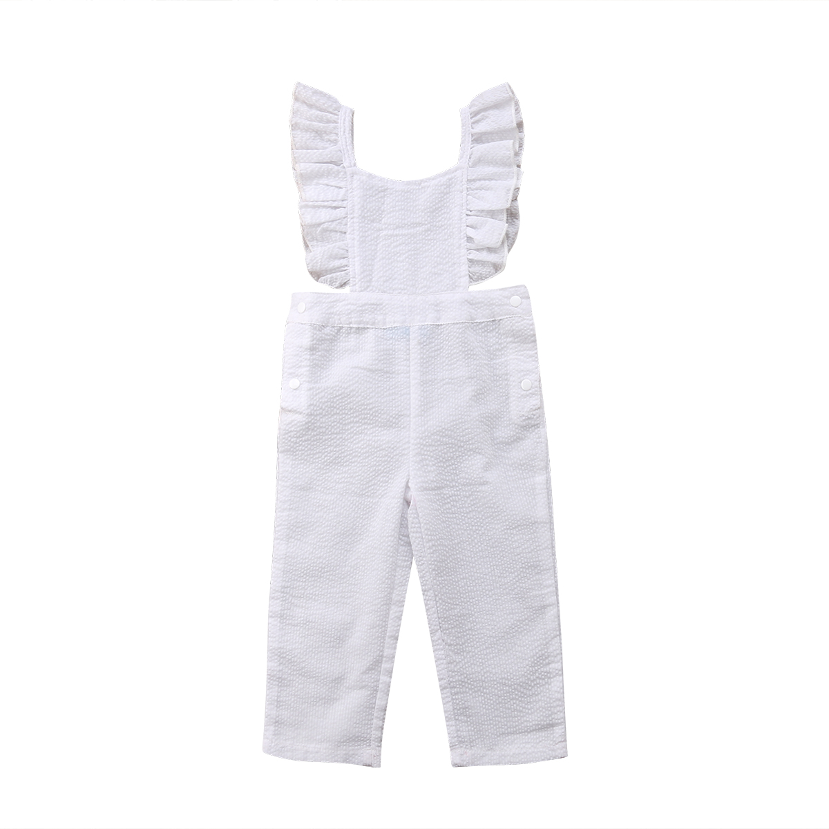 Emmababy Cute Infant Toddler Baby Girl Ruffle Romper Pullover Jumpsuit Playsuit Casual Summer Clothes Outfit