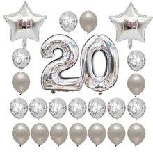 24PCS Gold Balloons 16 18 20 21 30 40 50 60th Birthday Party  Rose decoration Latex Baloon