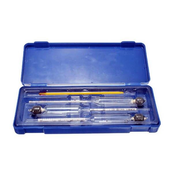 3 Pcs/ensemble 0-100% Alcootest Densimètre Alcoomètres Alcool Testeur Concentration Mètre pour Vin D'alcool avec Thermomètre