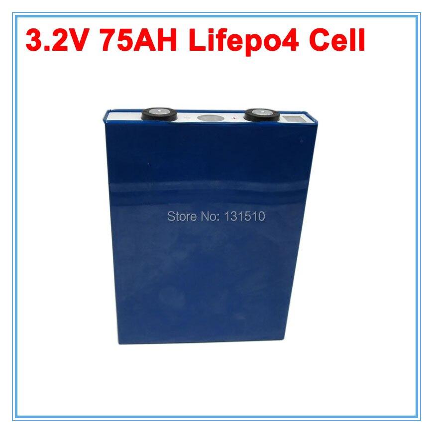 4 шт./лот чехол для литиевой батареи 3,2 В 75Ah LiFePO4 электрический автомобиль/Авто/Электрический мотор для хранения солнечной энергии