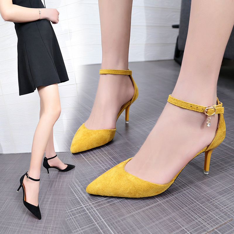 Summer new clear heels fashion European and American pointy super high with Sandalias Mujer in High Heels from Shoes