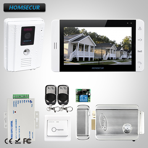 HOMSECUR 7 Video Door Phone Intercom System Electric Lock+Keys :L3:TC011-W Camera(White)+TM703-W Monitor (White)+LockHOMSECUR 7 Video Door Phone Intercom System Electric Lock+Keys :L3:TC011-W Camera(White)+TM703-W Monitor (White)+Lock