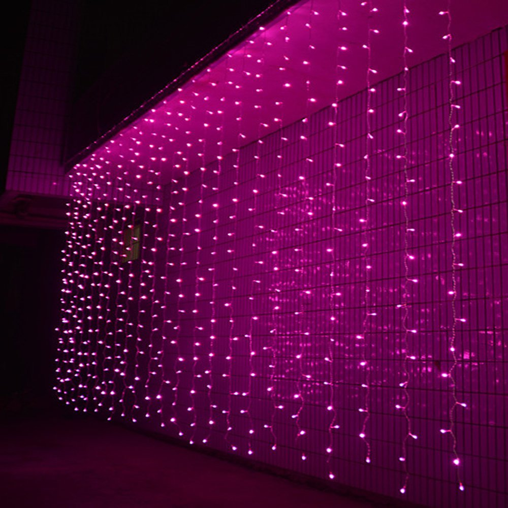 3M x 3M 300 LED Outdoor Window Curtain Icicle Christmas Lights String Fairy Lights Home Garden Wedding Party Decorations