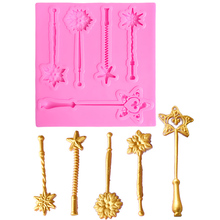 DANMIAONUO Kitchen Magic Wand Shape Cake Silicone Chocolate Gumpaste Mold Form For Soap Biscuit Baking A1032