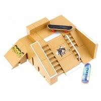 5pcs/lot Skate Park Kit Finger Board Ultimate Sport Training Props Indoor Sport Fingerboard Skate Boarding Toys For Kids