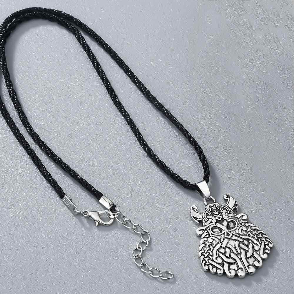 FENGLI Retro geometryczne mężczyzn wisiorki słowiański Amulet pogańskich Nordic Amulet Viking Choker antyczne srebro naszyjniki collares