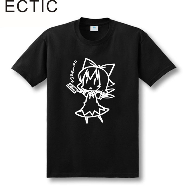 ECTIC new style line drawing Touhou Project Cirno ZUNSOFT ZUN sitcoms couple clothes man men male   T  -  shirt