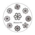 1 Unids Ronda de Flores Diseño de La Mezcla Del Arte Del Clavo DIY Encanto Plantillas de Manicura de Uñas de Acero Inoxidable Que Estampa la Placa de Impresión de Estampado JH235-41