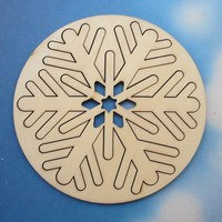 10 PCS App 12 5 Cm Wood Inside And Outside Combination Blank Unfinished Natural Crafts Supplies
