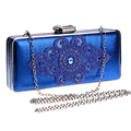 Elegant Rhinestones Accessory Women Evening Bags Black/Gold/Blue /Silver Chain Shoulder Day Clutches Purse Evening Bags