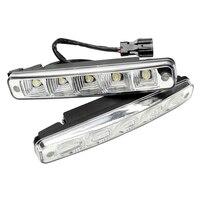Front Right Left DC 12V Super Bright Auto Fog Lamp 5 LEDs Car DRL LED Daytime