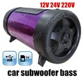 new arrival Portable Subwoofer Speaker Car audio bass 4 inch 3 colors for option support TF U disk 12V MAX power 50W