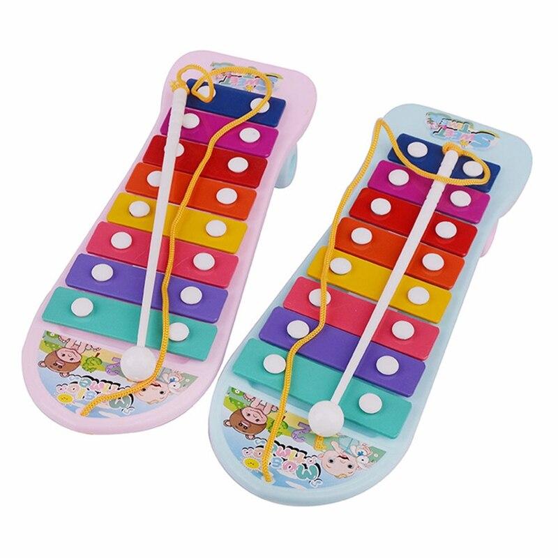 1 Pcs Hand Klopfen Klavier Skateboard Auto Geformt Klavier Spielzeug Baby Kinder Spielzeug Musik Instrument Frühen Lernen Spielzeug Zufällige Farbe
