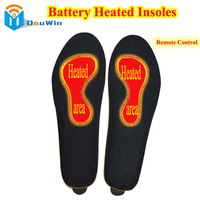 Battery Heated Gel Insoles Electric Shoe Pads Rechargeable Remote Control Feet Warm For Boots High Quality