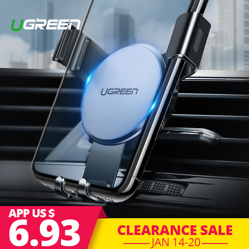 Ugreen Auto Telefon Halter In Auto für iPhone X 7 Air Vent Halterung Ständer Universal Smartphone Halter Schwerkraft Zelle Unterstützung auto Halter