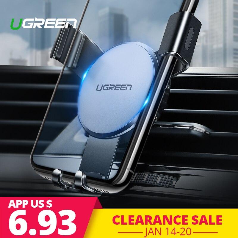Ugreen titular del teléfono del coche en coche para iPhone X 7 Montaje de ventilación de aire soporte Universal soporte de Smartphone la gravedad de soporte de celda soporte de coche