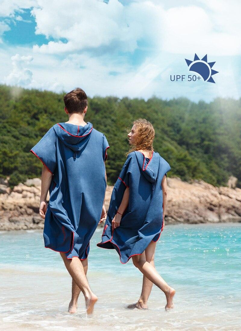 Naturehike secagem rápida com capuz roupão praia