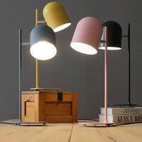Willlustr Новый Утюг чтения свет тумбочка лампа Macaron цвет розовый черный желтый синий кабинет стол освещения офис отель