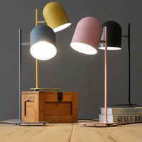 Willlustr new iron reading light bedside table lamp Macaron color pink black yellow blue study room desk lighting office hotel