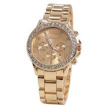 Ouro banda de Strass Senhoras relógios Relogio masculino 2016 New Top marca de Luxo relógio Das Mulheres relógios com Diamond dial 3 cores