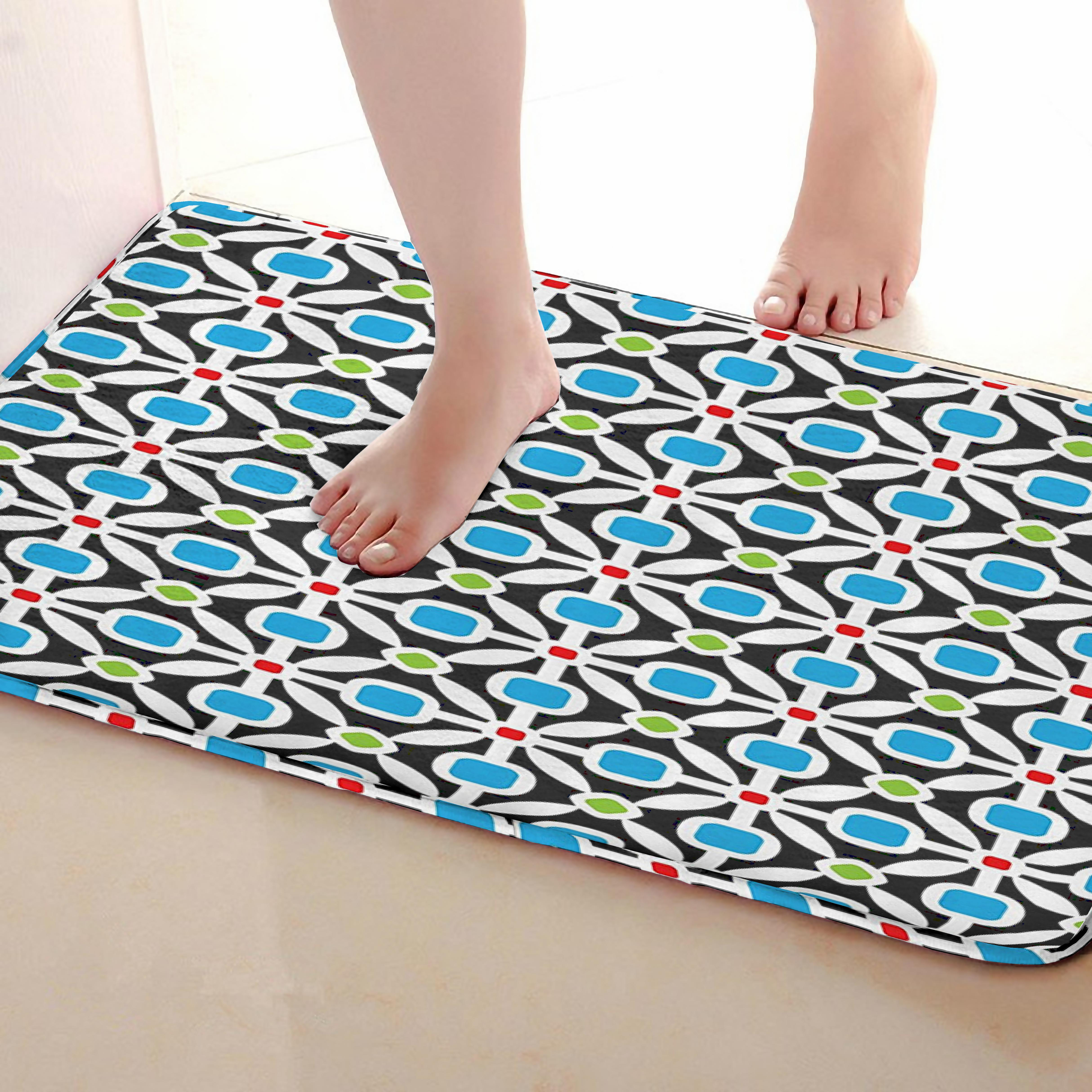 Shape Style Bathroom Mat,Funny Anti skid Bath Mat,Shower Curtains Accessories,Matching Your Shower Curtain