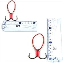 JSM 5 Pairs Assist Hook 4/0 5/0 Stainless Steel Fishing Hook with PE Line fishhooks