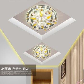 ทางเดินทางเดินโคมไฟเพดาน LED โคมไฟ porch ไฟรอบประตู sky โคมไฟคริสตัลสีสันโคมไฟเพดานโคมไฟสร้างสรรค...