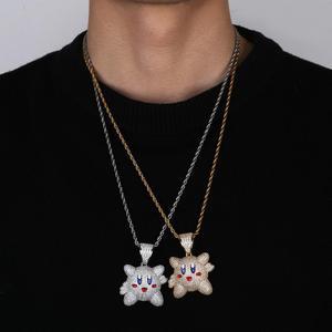 Image 3 - Ожерелье с подвеской 3D Kirby для мужчин и женщин, украшение в стиле хип хоп с теннисной цепью, цвет под золото, драгоценности в подарок