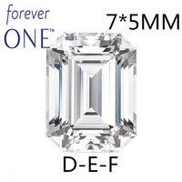 Сертифицированное Charles Colvard Forever One 1 карат Изумрудное кольцо Круглый муассанит драгоценный камень VS DEF бесцветный алмаз позиционирование те