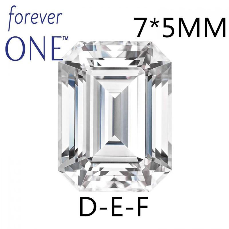 Certifié Charles Colvard Pour Toujours Un 1 Carat Emerald Cut Lâche Moissanite Gemme VS DEF Incolore Diamant PositiveTesting