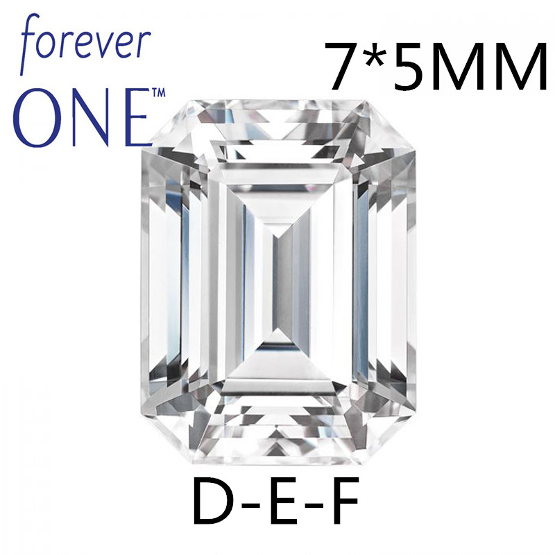 где купить Certified Charles Colvard Forever One 1Carat Emerald Cut Loose Moissanite GemStone VS DEF Colorless Diamond PositiveTesting дешево