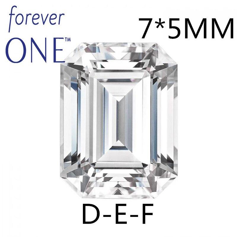 Сертифицированный Charles Colvard Forever One 1 карат изумруд россыпью муассанит драгоценный камень против DEF бесцветный бриллиант
