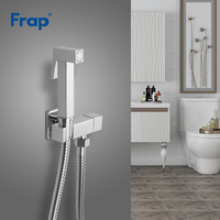 FRAP Bidet faucets solid brass single cold water corner valve bidet toilet faucet square hand shower tap crane 90 degree switch