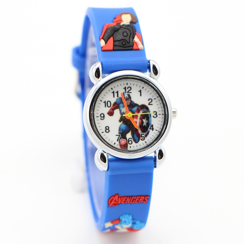 New 3D Cartoon Marvel's The Avengers Doll Kids Watch Children Kids Boys Students Quartz Wristwatches Relojes Montres Kol Saati
