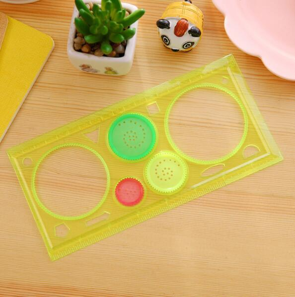 Painting Multi-function Puzzle Spirograph Geometric Ruler Drafting Tools For Students Drawing Toys Children Learning Art Tool 2