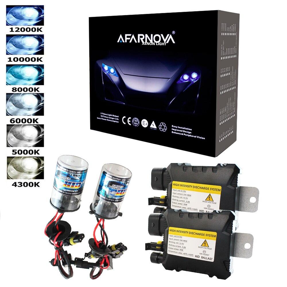 35W AC HID xenon kit H1 H3 H4 H7 H11 9005 9006 D2S car headlight slim ballast xenon bulb 4300K 6000K 8000K xenon H7